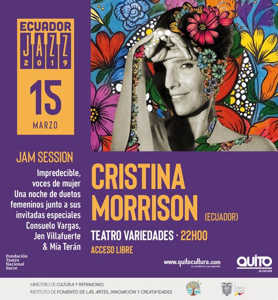 CRISTINA MORRISON ECUADOR JAZZ FEST 2019